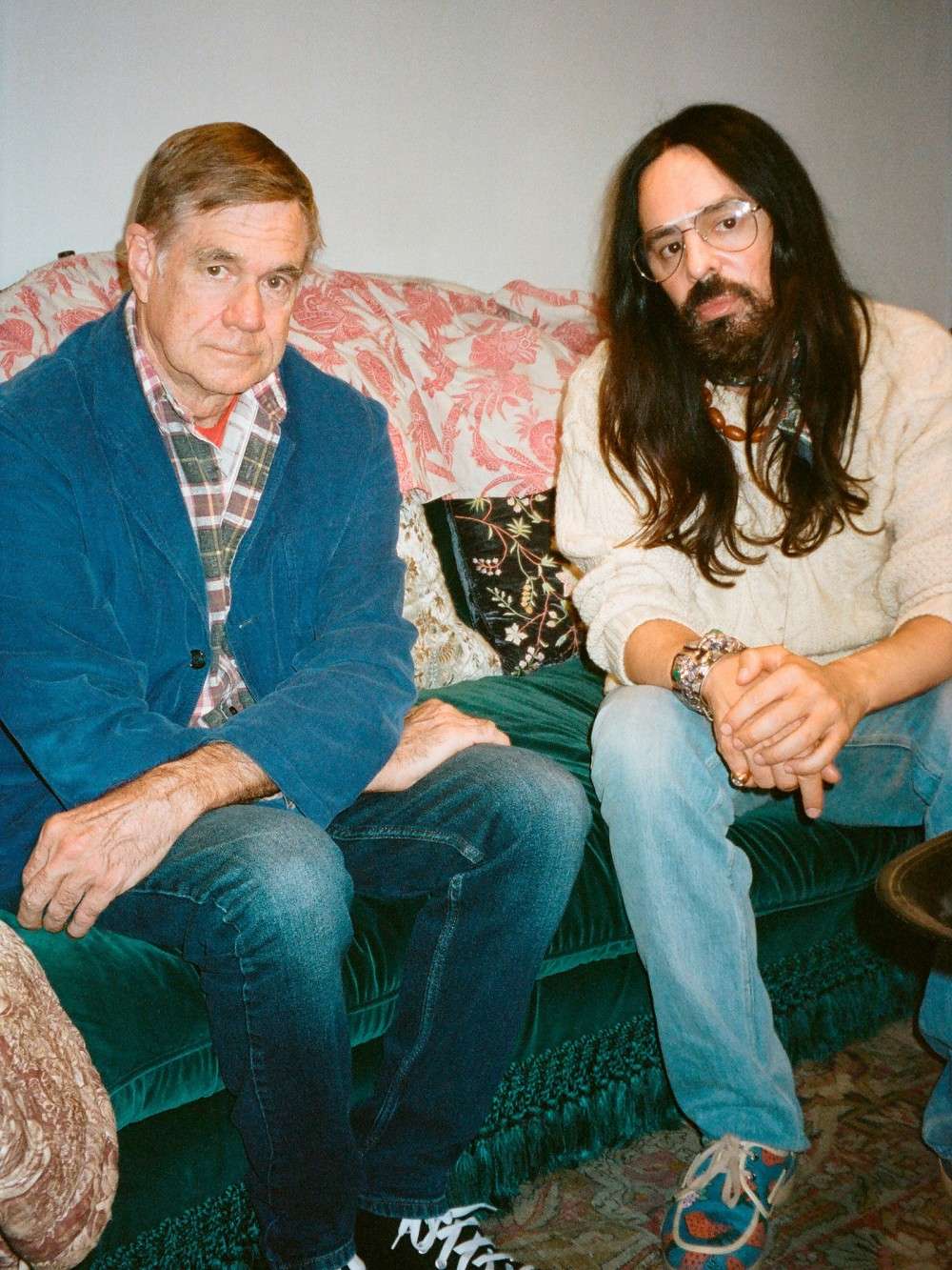 pGus Van Sant and Alessandro Michele. Photo Paige Powellp