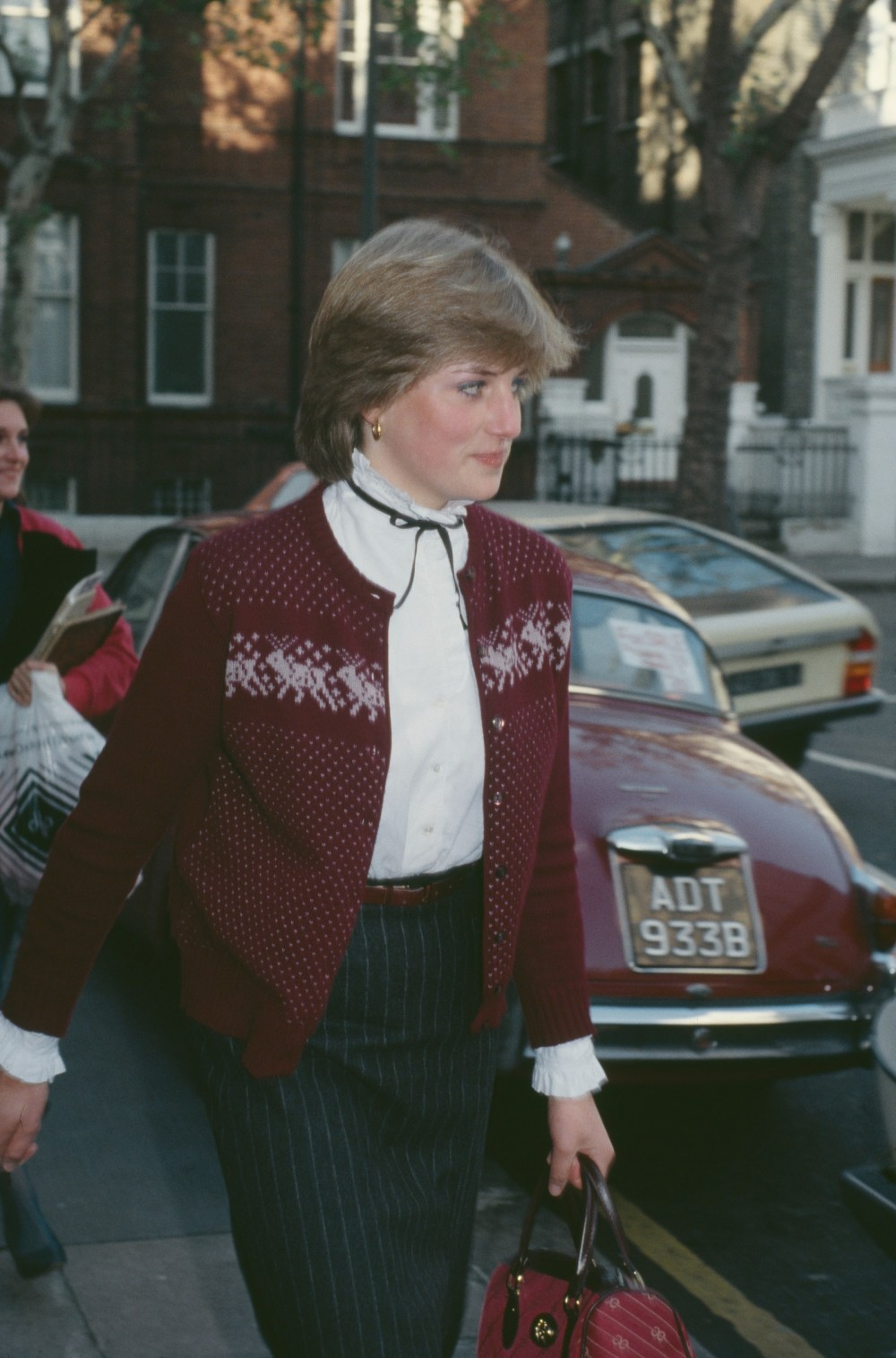 Lady Diana outside her London flat in November 1980.nbsp
