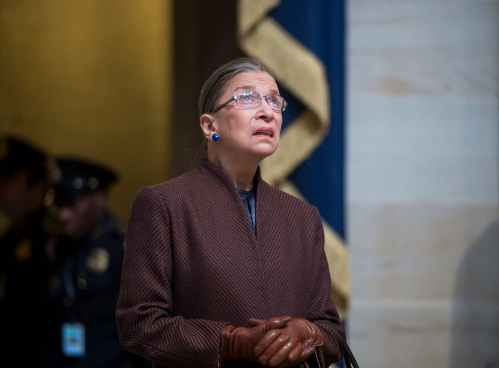 Supreme Court Justice Ruth Bader Ginsburg attending President Barack Obama's inauguration January 21 2013.