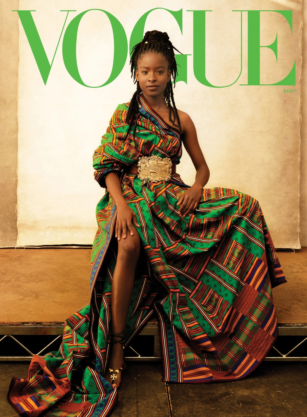 Cover Look With her new prominence Gorman says that her hope is to be a steppingstone for change. Louis Vuitton blanket...
